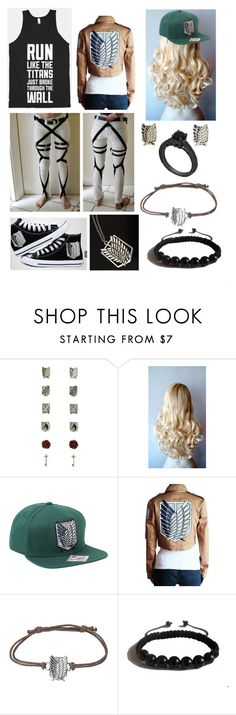 """Attack On Titans"" by kxllerkxng ❤ liked on Polyvore featuring Levi's and Shamballa Jewels"