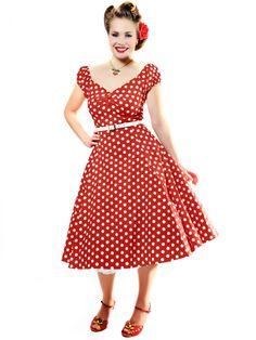 Dolores Doll Dress Polka 2