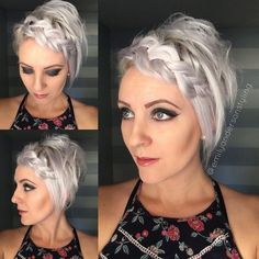 Enjoy the holiday with your family and friends. I'll be spending the day with my cute assistant creating beautiful hair all… Short Hair Updo, Short Wedding Hair, Short Hair Cuts, Bride Hairstyles, Ponytail Hairstyles, Pretty Hairstyles, Bridesmaid Hairstyles, Medium Hair Styles, Curly Hair Styles