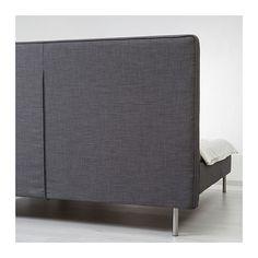 Sitzwürfel Ikea ikea skulsfjord bed frame gray