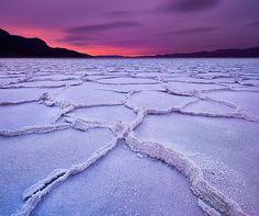 Salt deposits at Badwater, Death Valley National Park