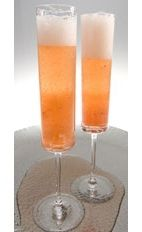 Celebration - The Celebration drink is made from Leblon Cachaca, champagne/sparkling wine, black raspberry liqueur, simple syrup, lemon and strawberries, and served in a champagne flute.