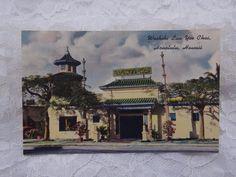 Vintage Postcard Hawaii Hawaiian Waikiki Lau Yee Chai