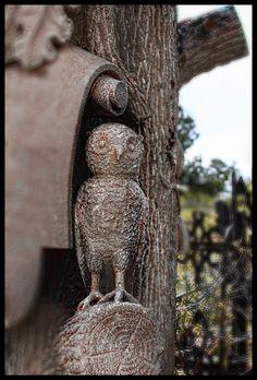 Owl Grave Marker Central City Colorado