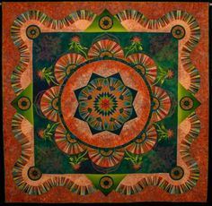 """NQA 2014 Quilt Show , Best of Show """"Eureka"""" by Marilyn Badger"""