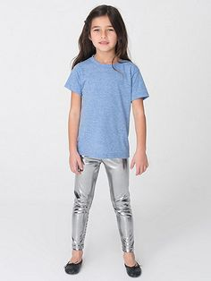 American Apparel Kids Shiny Leggings - Silver would be perfect for a robot costume