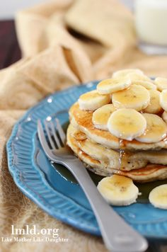 Easy and delicious banana pancakes make a great breakfast or brinner
