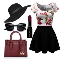 """""""Untitled #17"""" by oliveira-nrn on Polyvore featuring Topshop, Michael Kors, Smashbox, women's clothing, women, female, woman, misses and juniors"""