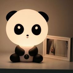 NEW Baby Room Panda/Rabbit/Dog/Cat Cartoon Night Sleeping Light Kids Bed Lamp Best for Gifts