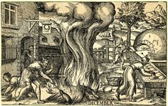§§§ : December (courtyard of an inn, with peasants roasting pigs and baking bread) : 1580
