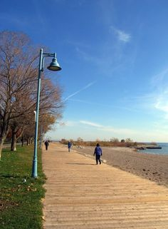 The Toronto Beaches neighbourhood was first settled by the Ashbridge family who came to Canada from Philadelphia, in Ontario, Best Places To Live, Places To See, Train Tour, Beach Boardwalk, Visit Canada, Carthage, Toronto Canada, Landscape Photos