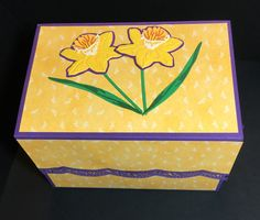 Daffodil File Folder Box Cardmaking And Papercraft, Altenew, File Folder, Gift Certificates, Early Morning, Daffodils, Stamping, Embellishments, Card Stock