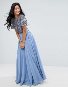 ASOS Geo Embellished  Maxi Dress