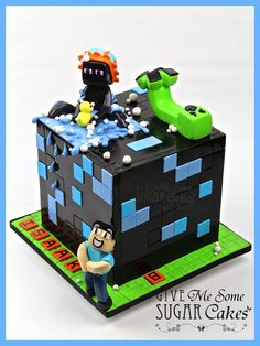 Funny Minecraft - by Give Me Some Sugar Cakes @ CakesDecor.com - cake decorating website