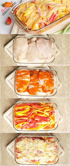 Easy + Delicious = My favorite kind of dinner recipe! Buffalo Chicken Bake