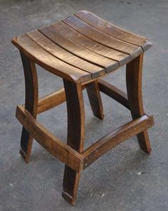 Spent Wine Barrel Stave Stool