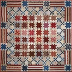 two of my favorite blocks sawtooth star and 9 patch.  Pattern avail at Primitive Gatherings Quilt shop