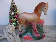 Vintage Chalk Ware Horse Carnival Souvenir Palamino by luckduck