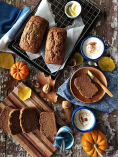 Pumpkin-Olive Oil Bread recipe from The Vanilla Bean Baking Book - Simple Bites After School Snacks, School Lunches, Olive Oil Bread, New Cookbooks, Food Gifts, Pumpkin Spice, Bread Recipes, Baked Goods, Food Photography