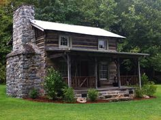 Old log cabin on the grounds of Cook's Old Mill ... | Cabins and Cott ...