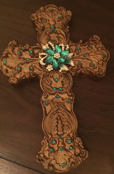 Embellished Ornate Cross with Sparkle/Bling by PhancyFeather