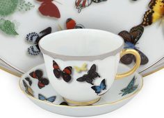 Sensible Alfred Meakin Saucer With Lovely Cream Colour And Gold Rim With Orange And White Fashionable And Attractive Packages Alfred Meakin