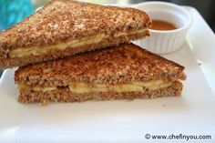#ElvisPresley Grilled Peanut Butter And Banana Sandwich | Breakfast Sandwich Recipes via chefinyou.com // Yum!