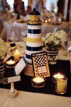 nautical wedding centerpiece                                                                                                                                                                                 More