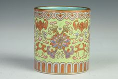 Buy online, view images and see past prices for CHINESE FAMILLE ROSE PORCELAIN BRUSH POT, Qianlong iron red seal mark. - 2 in. Invaluable is the world's largest marketplace for art, antiques, and collectibles. Asian Vases, Chinese Ceramics, The 4, Seal, Planter Pots, Auction, Porcelain, Pottery, Iron