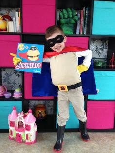 Supertato costume for World Book Day
