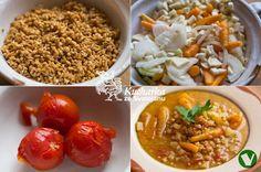 Kuchařka ze Svatojánu: ŠPALDOVÁ POLÉVKA Grains, Rice, Chicken, Meat, Food, Essen, Meals, Seeds, Yemek