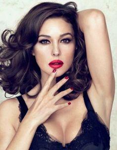 Monica Belucci - Red Lipstick