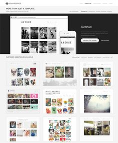 square space - awesome web design templates
