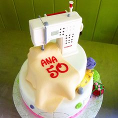 Yum! BERNINA birthday cake! #BERNINA #sewingmachine
