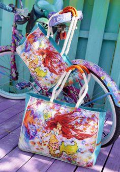 leoma beach bag - Shop for and Buy leoma beach bag Online Mermaid Beach, Mermaid Art, Fantasy Mermaids, Sea To Shining Sea, Beach Art, Online Bags, Mythical Creatures, Artsy Fartsy, Vivid Colors