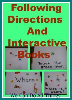 we can do all things- Following Directions and Interactive Books