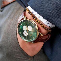 58cd40252e5 Montpellier Green Chronograph Watch