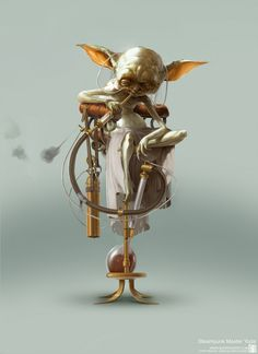 Steampunk Star Wars - Yoda  May the Fourth be with you!