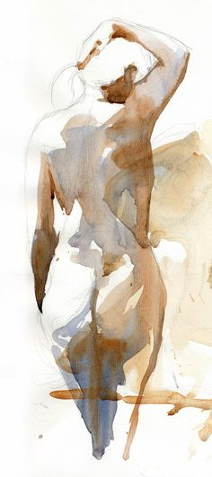 Helen Ström: Figures in watercolor