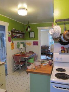 Kitchen color ideas on pinterest purple kitchen purple for Purple and green kitchen ideas