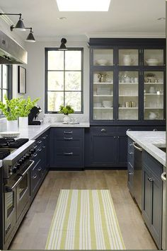 #kitchen, #kitchen-cabinets, #gray    View entire slideshow: 15 Stunning Gray Kitchens on http://www.stylemepretty.com/collection/277/