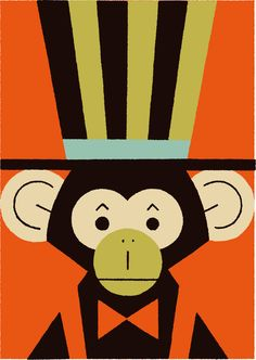 Circus 02 on Behance Cartoon Monkey, Monkey Art, Circus Illustration, Monkey Pictures, Circus Art, Abstract Animals, Animal Posters, Weird Art, Art Background
