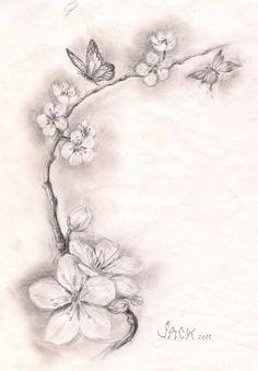 Black And White Cherry Blossom Tattoos 5 New Cherry Blossom Tattoo Designs