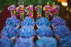 Cupcakes hortênsias e tubetes