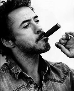 RDJ with cigar