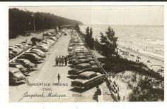 Mich RPPC Saugatuck Michigan Oval Beach Real Photo Postcard | eBay