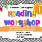 """Every 1st Grade Common Core Informational and Literature Reading Standard is addressed with a strategy card, focus question, exit slip(s), and an """"..."""