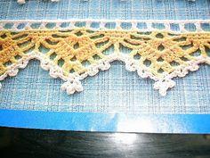 Crochet Dollies, Crochet Lace Edging, Crochet Borders, Crochet Stitches, Knit Crochet, Crochet Hats, Crochet Designs, Crochet Patterns, Crochet Embellishments