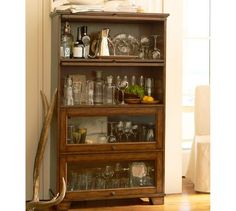 Kent Bookcase | Pottery Barn - I fantasize about having a library full of barrister bookcases...