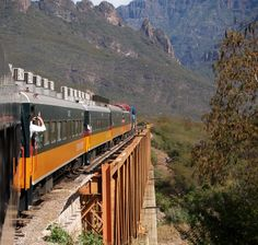 2. Copper Canyon is much bigger, and much greener, than the Grand Canyon in the US. The best way to see it is on the Ferrocarril Chihuahua al Pacífico, a train which travels 600 kilometres across northwestern Mexico.